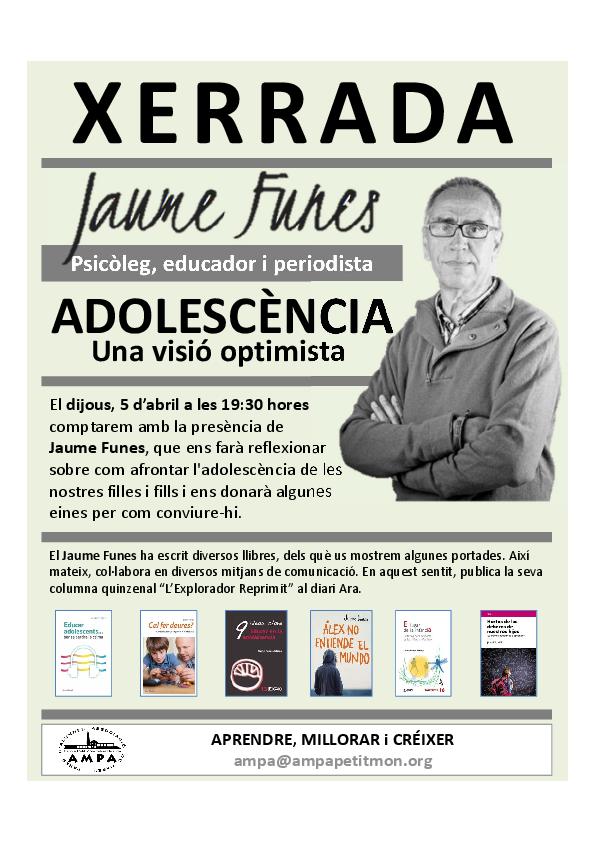 20180307 Cartell Xerrada Jaume Funes